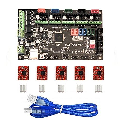 KOOKYE 3D Stampante componente per Arduino RepRap (3D controller MKS Gen V1.4 + A4988)