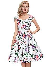 Belle Poque® 50er Vintage Retro Rockabilly Kleid Sommerkleid knielang in mehreren Farben