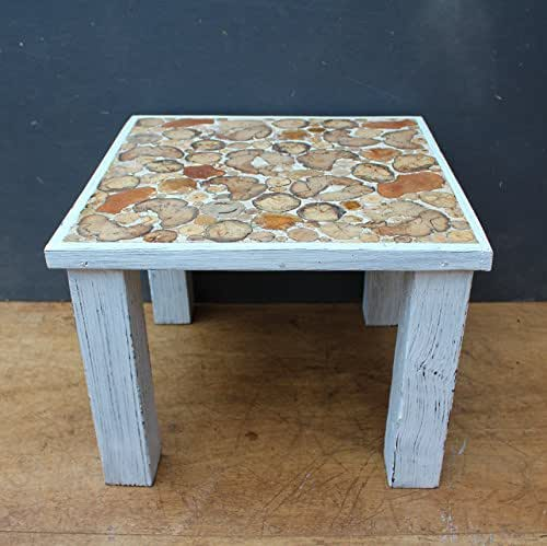 Driftwood coffee table white distressed paint for Driftwood tables handmade