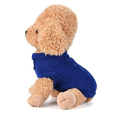 Imagen de ropa para perros, internet puente de punto para mascotas suéter de invierno disfraz de peluche s, azul oscuro  alternativa