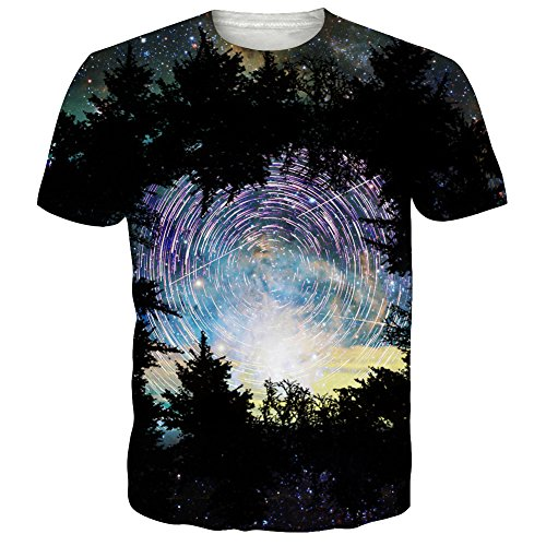 int Rundhals Schwarzwald Mode Hipster Kurzarm Shirt Lässige Grafiken Tees (Jungen Halloween T Shirts)