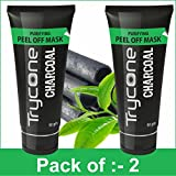 #5: TRYCONE CHARCOAL PEEL OFF MASK FOR INSTANT GLOW ( CHARCOAL FACE MASK, BLACKHEADS, WHITEHEADS AND TANNING REMOVER ) (Pack Of 2 Total : 100g.)