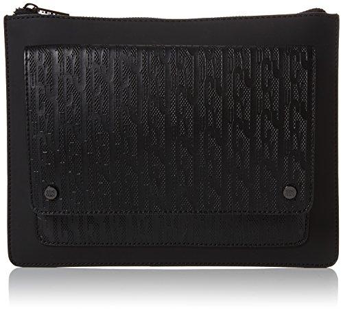 Juicy by Juicy Couture Damen Monterey Clutch, Schwarz (Black Deboss), 2.5x20x27 cm (Handtasche Juicy Couture Schwarz)