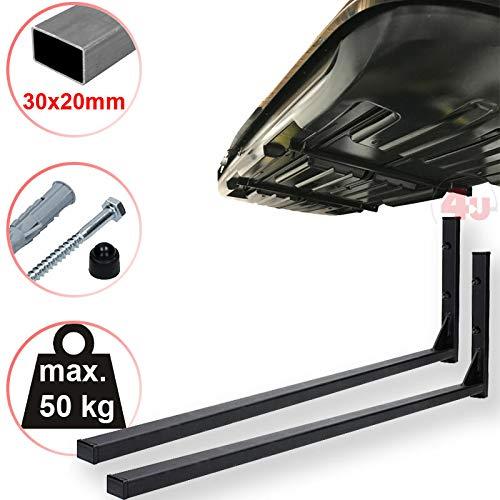 4U® Dachboxenhalterung 42,5cm, 50kg, (30x20mm) Wandhalterung Dachträger Gepäckträger Dachboxträger Dachbox
