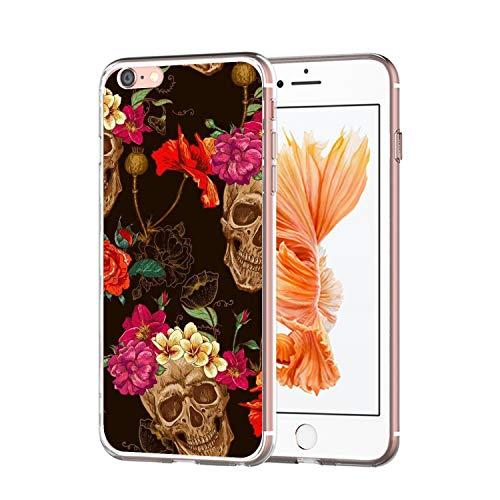 el mit case iPhone 6 Hülle Halloween Cover iPhone 6 Handy Schale Schutz Transparent Stoßfestes Schutzmuster Weiche TPU Silikonhülle ()