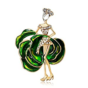 Youkara Dance Beauty Brosche für Frauen Mädchen Teenager Schmuck Abschlussball Preppy