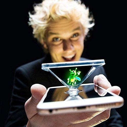 SODIAL Licht geplatzt Honigbiene magische Laterne neue Spielzeug magische Finger prop Lampe 3D Hologramm Projektion Spielzeug Party Leistung Magisches Licht
