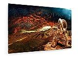 Hans Peter Kolb - Sternzeichen - Widder - 45x30 cm - Textil-Leinwandbild auf Keilrahmen - Wand-Bild - Kunst, Gemälde, Foto, Bild auf Leinwand - Sternzeichen