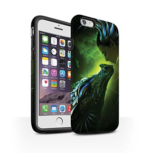 Officiel Elena Dudina Coque / Matte Robuste Antichoc Etui pour Apple iPhone 6 / Eau/Bébé Design / Dragon Reptile Collection Écailles Vertes