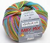 Schoeller und Stahl Wolle Baby Mix Color dk Fb. 102 lampion, Babywolle speichelecht, aus Schurwolle und Microfaser