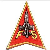 Parches - F5 Army aviación - rojo - 6.7x8.5cm - by catch-the-patch termoadhesivos bordados aplique para ropa