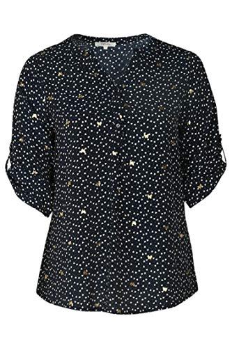 PAPRIKA Damen große Größen Bluse mit attraktivem Print Marine 2 (46)
