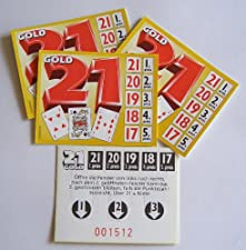 """Ein wahres Knobel-Vergnügen. Spielen Sie """"Ziffer 21 GOLD"""" im Freundeskreis, auf Festen, in der Kneipe oder sonstigen Veranstaltungen. Die Gewinnverteilung kann selbstständig bestimmt werden. Es müssen vom Spieler, von links nach rechts mindestens 2 v..."""