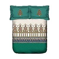 Portico New York Lavender Printed Cotton Super King Size Double Bedding Set, Multi-Colour, 274 cm x 274 cm, 8046771. Set of 2
