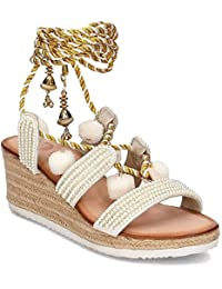 GIOSEPPO sandalias de los zapatos de las mujeres planas 40501-24 Quetzalí talla 36 Color blanco R7nXbR2Q