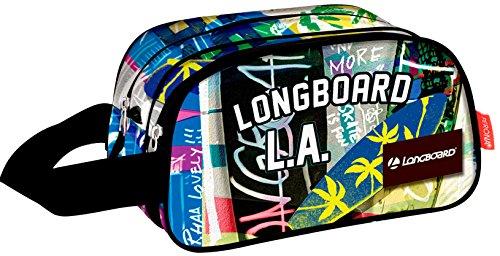 MONTICHELVO Neceser con 2 Departamentos de Longboard 'Street' Neceser, 40 cm, Multicolor