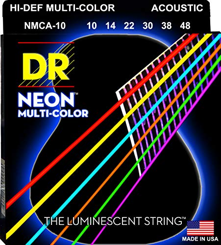 DR String MCA-10 Multi-Color Set di corde per chitarra acustica
