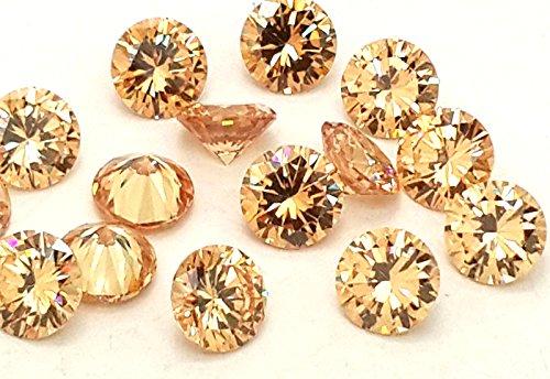 EIMASS® , Charm decorativo , Oro (Light Gold), 9 mm - Cut Gold Diamond
