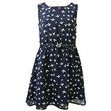 Eisend - Mädchen Kleid Schwalben Gemustert, dunkelblau - 574231, Größe 146