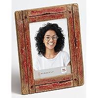Walther Design YA318R Dupla, marco de retrato de madera en shabby chic, rojo /