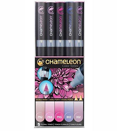 chameleon-pen-lot-de-5marqueurs-tons-floraux-pantone-professionnels