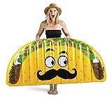 BigMouth Inc. - Riesiger Taco Schwimmring Luftmatratz - Aufblasartikel Strandspielzeug