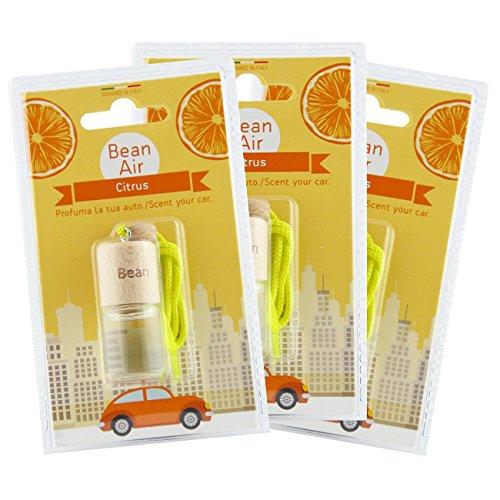 Fra-ber profumatore deodorante per auto e ambienti bean air agrumi 3pz