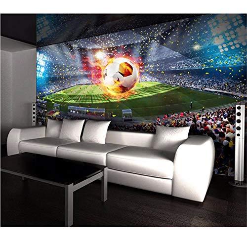 oderne 3D Wandbilder Wallpaper Foto Hd Fußball Feld Tapeten Für Wohnzimmer Kinderzimmer Schlafzimmer-400X280Cm ()