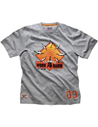 Scruffs Small Radio Graphic T-Shirt - Grey