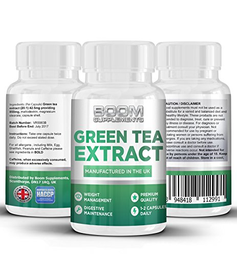 Green Tea Extract 850mg Max Strength | 90 Powerful Fat Loss Capsules | Green Tea Capsules | Helps Shed Fat For Men And Women | Achieve Weight Loss Goals FAST | Safe And Effective | Manufactured In The UK! | Results Guaranteed | 30 Day Money Back Guarantee