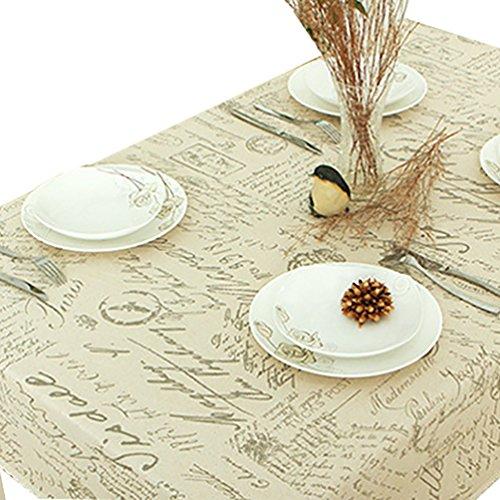 NiSeng Manteles de lino Estampado Alfabeto Manteles para mesas rectangular cuadrados Decoracion...