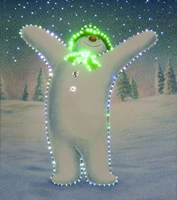 Xmas Decoration The Snowman Canvas Wall Art Illuminated LED Christmas Lights