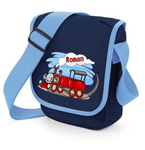 """TTS Kindergartentasche """"Lokomotive"""" mit Wunschtext Rot"""