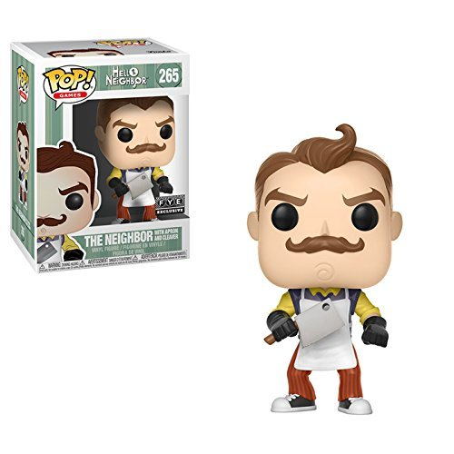 Funko Hello Neighbor Figure 265The W/Apron and Meat Cleaver Statue Collectable Exclusive, 9cm, 24812