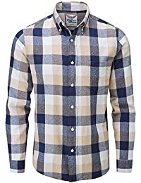 Charles Wilson Camisa Franela de Cuadros Manga Larga para Hombre 59fadf2abef52