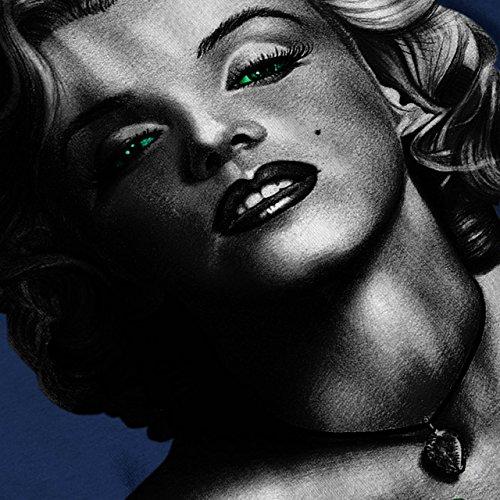 Marilyn Schwarz Berühmtheit Frau Gesicht Damen S-2XL Muskelshirt | Wellcoda Marine