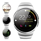 Life Plus Smartwatch Bluetooth 4.0 Pedometer Sleep Monitor Pedometer Seden Military Reminder 1.3 Inch GSM Support for Android OS, iOS