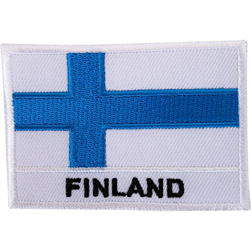Bordado Sew hierro parche bandera Finlandia finlandés