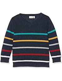 NAME IT Baby-Jungen Pullover Nitgesse Ls Knit Vneck M Mini