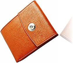 Wenzest Tan Mens Designer Wallets with Magnetic Enclosure