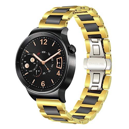 TRUMiRR Für Nokia Steel HR Armband 36mm, 18mm Keramik Uhrenarmband Schnellspanner Armband für Huawei Uhr, Nokia Steel HR 36mm, und andere 18mm Uhr
