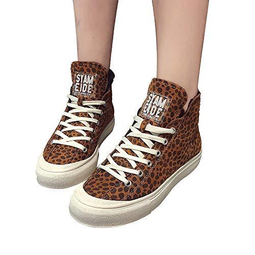 emp corsage Women'S Leopard Print Round Toe Flat Non-Slip Keep Warm Kurze Bare Boots Cotton Shoes Ritter Shoes Stiefel Wildleder Freizeitschuhe Halten Warme Schuhe Flache Sportschuh Rutschfeste(Khaki,40)