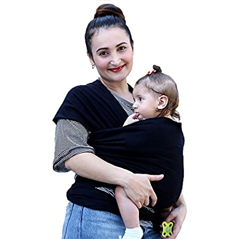Ailina Premium Baby Wrap Carrier |one taglia unica | dopo il parto cintura, per allattamento, confortevole e rilassante per neonati, adatto per neonati, neonati e bambini, cotone/Spandex Comfort Fabric |100% infinity garanzia, ideale come regalo