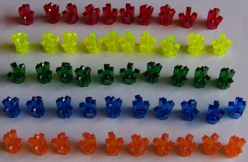 LEGO 50 Power Miners (Powerminer) Kristalle in 5 Farben