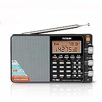Tecsun PL-880ile taşınabilir Stereo-Breitbandradio LW/KW/mW SSB-PLL-Modi FM (64–108MHz)