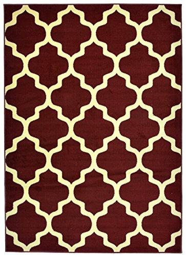 Art Deco Teppiche (Moderner Designer Teppich - Für Ihre Zuhause - Braun Creme - 250 x 300 cm - Marokkanisches Muster -