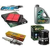 Kit d'entretien pour Yamaha YZF-R125 2008-14 : FILTRE À HUILE , FILTRE À AIR , Bougies d'allumage et huile