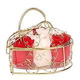 Handgemachte Seife Goosun 6 Rose Seifenblume Im Vergoldet Geschenkbox Kunstblumen Rose Kreative...