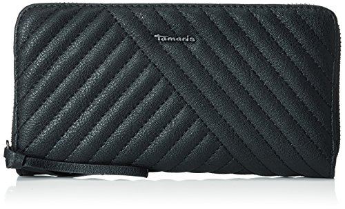 Tamaris Damen lissi Big Zip Around Wallet Geldbörsen, Schwarz (Black 001), 19x10x2 cm (Zehn Wallet Damen Zip-around)