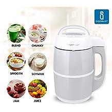 Aigostar Babybean 30IMW – Máquina de leche vegetal con 6 funciones, 952 W de potencia, capacidad 1,7 litros. Libre de BPA, acero inoxidable de tipo 304. Color blanco y gris. Diseño exclusivo.